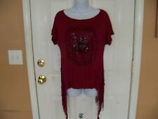 Charlotte Russe Burgandy Code Spellbound Day Shirt Size M Women's NEW LAST ONE