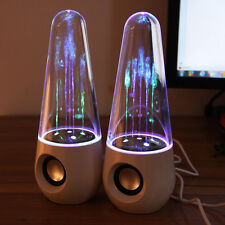 LED Dancing Water Show Music Fountain Light Speakers for Phones Laptop PC White