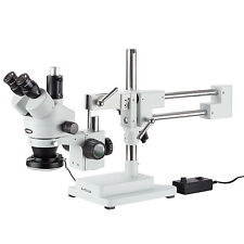 AmScope SM-4TZ-144 3.5X-90X Trinocular Stereo Microscope with 144-LED Ring Light