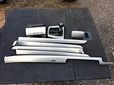 AUDI a4 b7 SILVER IN ALLUMINIO CRUSCOTTO CONSOLLE CENTRALE PORTA CARTA TRIM SET KIT 2005-2008
