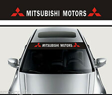 Reflective Front Windshield Banner Decal Car Sticker for Mitsubishi Auto Exterio