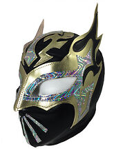 SIN CARA (LYCRA) Youth Wrestling Halloween Mask Lucha Libre (6yr -12yr) Black