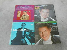 LIBERACE-4 LP'S-A LIBERACE CHRISTMAS-YOU MADE ME LOVE YOU-AT THE PIANO-6 EYE