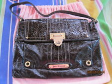 Pre-loved and 100% Authentic Juicy Couture Purse, Brown-black in color