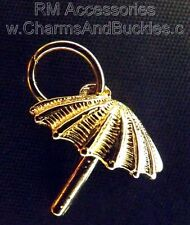 Umbrella Charm Pendant EP 24k Gold Plated with a Lifetime Guarantee!
