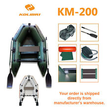 Kolibri KM-200 Fishing Inflatable Dinghy Rowing Motor Boat