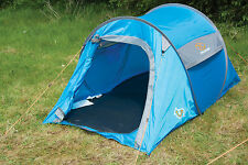 Up In 2 Tent Blue / Grey - Quick Pitch Pop up Tent Festivals Camping Trekking