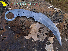 LAVER'S Hand Made Damascus Steel Hunting Blank Knife *** KARAMBIT BLANK ***
