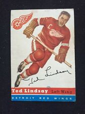 Ted Lindsay 1954/55 Topps Card #51 Ex+ Nice  Red Wings Hof
