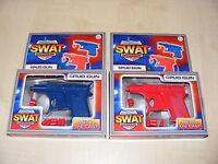 2 x CHILDRENS KIDS DIE CAST METAL SWAT ACADEMY POTATO SPUD GUN TOY 1 RED 1 BLUE