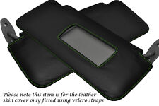 GREEN STITCH FITS BMW 5 SERIES E34 1984-1997 2X SUN VISORS LEATHER COVERS ONLY