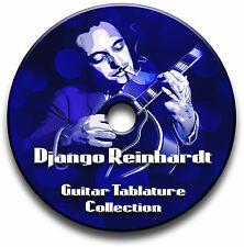 DJANGO REINHARDT JAZZ GUITAR TABS TABLATURE SONG BOOK SOFTWARE CD ANTHOLOGY