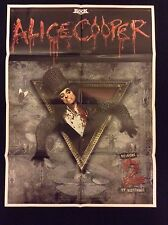 ALICE COOPER 2 SIDED PROMO POSTER FOR WELCOME TO MY NIGHTMARE 1 & 2 MINT COND