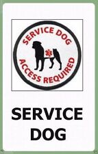Service Dog ID Badge Tag With ADA Law On The Back Durable Plastic Credit Card