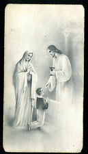 ANTIQUE HOLY CARD COMMUNION WITH JESUS