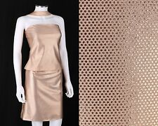 VERSACE JEANS COUTURE 2 PC PEACH METALLIC REVERSE HALTER TOP SKIRT SET DRESS M