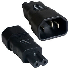 IEC MALE KETTLE (C14) TO FIGURE OF 8 FEMALE (C7) POWER ADAPTER -10A- PLUG/SOCKET