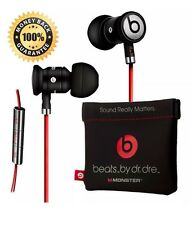 100% AUTHENTIC MONSTER BEATS URBEATS BY DR DRE IN EAR BLACK HEADPHONES EARPHONES