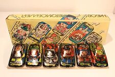 VINTAGE USSR RUSSIA TIN TOY SET OF SIX CARS POPULAR CHARACTERS FROM FAIRY TALES