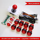 Arcade USB Control Panel DIY Bundle Kit PC Joystick + 10 Illuminated Push Button