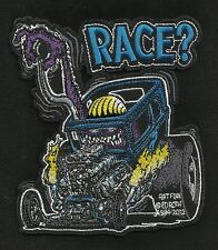 "OFFICIALLY LICENSED ED ""BIG DADDY"" ROTH RAT FINK RACE? CAFE RACER HOT ROD PATCH"
