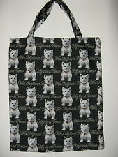 NEW REUSEABLE TAPESTRY ECO TOTE/SHOPPER/CARRY BAG-WITH  WEST HIGHLAND TERRIERS