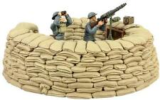 WBritain 25026 Royal Air Force Lewis Gunner Spotter Sand Bag Emplacement Soldier