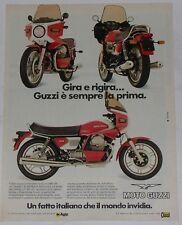 Advert Pubblicità 1982 MOTO GUZZI 1000 SP