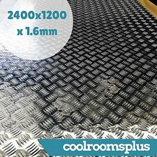 2400 x 1200 x 1.6mm Aluminium Checker Plate Sheet Tread