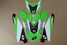 ONE INDUSTRIES  FORK GUARD   FRONT &  REAR FENDER  GRAPHICS KAWASAKI KX85 KX100