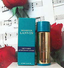 Monsieur Lanvin Vetyver After Shave Lotion 1 1/3 Oz. NIB. Vintage