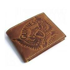 New Irish Guinness Brown Leather Wallet - Bifold - Ireland - Licensed Stock