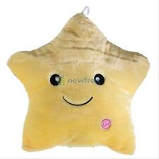 Colorful Stuffed Dolls LED Glowing Stars Plush Pillows Cushion Light Up Toy Gift
