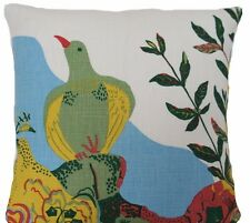 Josef Frank Fabric Cushion Cover Anakreon White Floral Linen Fabric Decorative