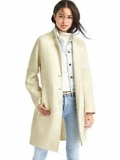 nwt gap ivory off white double face car wool blend coat 2016 small S
