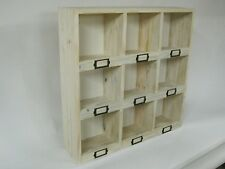 CHINEWOOD SHABBY CHIC PIGEON HOLE RUSTIC SHELVING UNIT WOOD DISPLAY