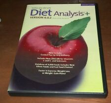 Diet Analysis Plus version 6.0.2 for Windows (2002, CD-ROM)