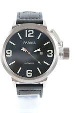 PARNIS Automatikuhr, 50mm,Datum,Glasboden,Lederarmband, Neuware