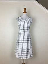 J. Crew NEW Sleeveless A-line Dress In Windowpane Tweed  $138 Size 8 Item F0702