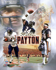 Walter Payton LEGEND Chicago Bears Classic Career Collage Premium POSTER Print
