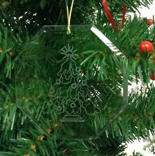 Personalized Crystal Glass Ornament Christmas Tree Custom Gift