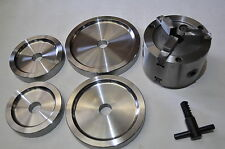 """Brake Lathe 1"""" Double Quick Chuck Adapter / Backing Plate / Key fits Ammco"""