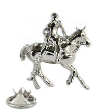 3D Polo Player Metal Pin Badge dressage equestrian horse racing NEW AJTP175