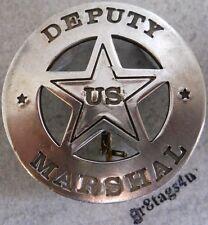 Deputy US Marshal silver western sheriff police badge B61