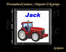 Tractor Farming Personalised Drinks Coaster Novelty Birthday Christmas Gift