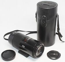 Very good MINOLTA AF ZOOM 75-300mm F/4.5-5.6 MACRO Lens for Sony Alpha w/ Case