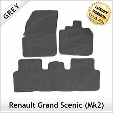 Renault Grand Scenic Mk2 2003-2009 Tailored LUXURY 1300g Carpet Car Mats GREY