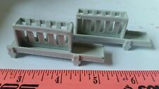 1/64 ERTL FARM COUNTRY TOY QTY OF 2 GREY COW HORSE SHEEP GOATS HAY BUNK FEEDERS