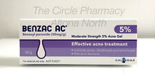 Benzac AC 5% 50g Water based Acne Gel Benzoyl Peroxide from Australian Pharmacy