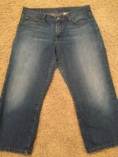 Women's LUCKY BRAND CLASSIC FIT CROP SIZE 32 Blue Jeans